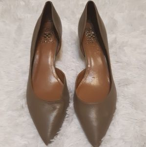 Vince Camuto kitten heels- charcoal gray